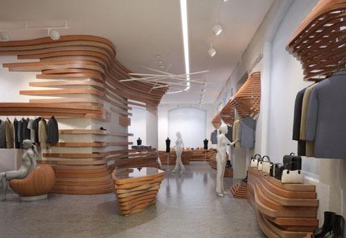 Дизайна интерьера магазина